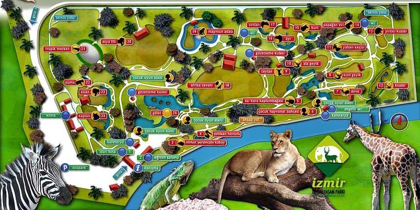 izmir sasalı doğal yaşam parkı harita