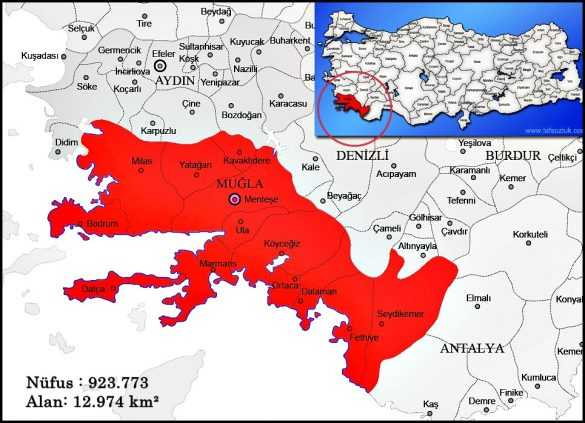 muğla harita