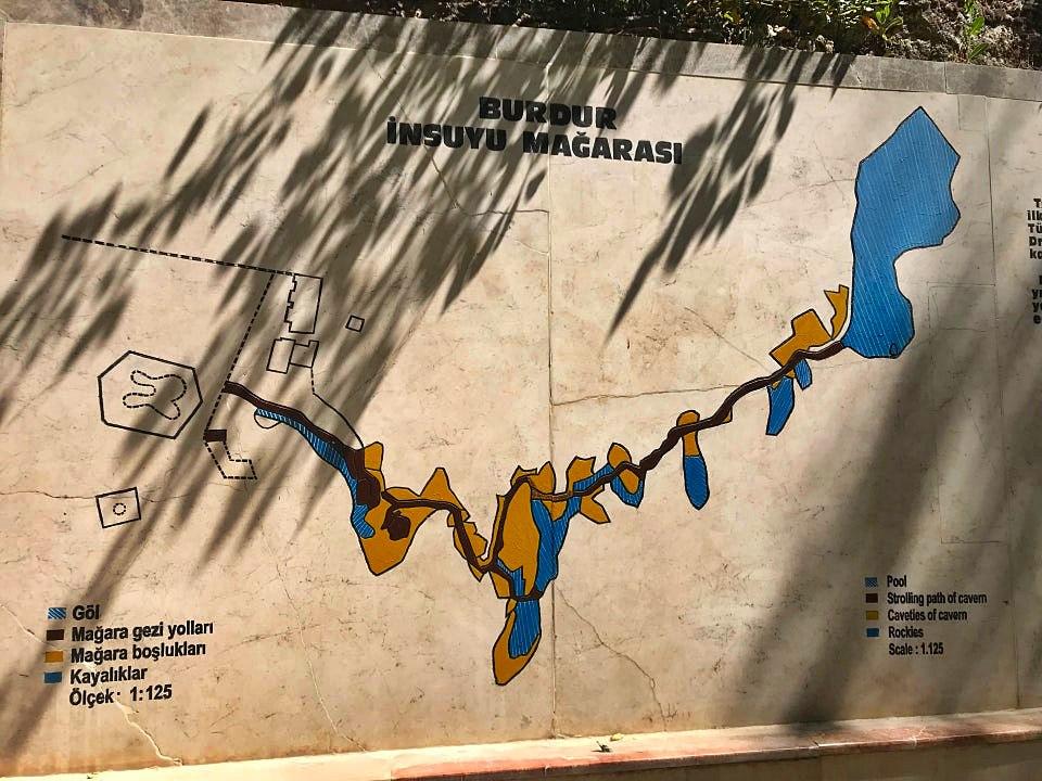 İnsuyu Mağarası harita