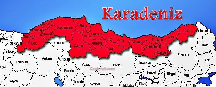 Karadeniz Gezi Haritası