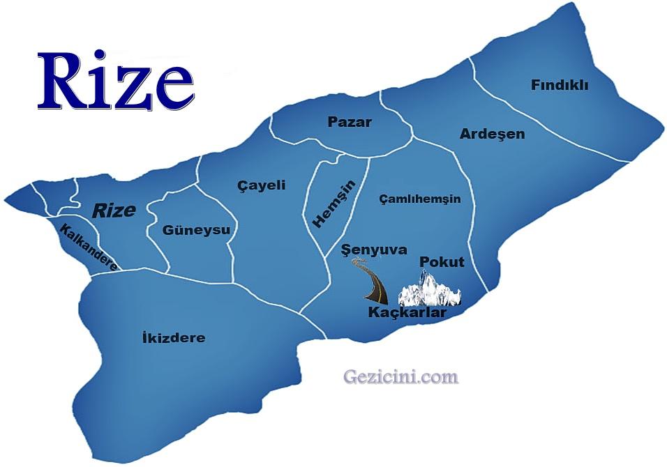 rize harita