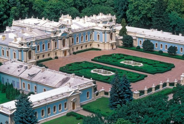 mariinskij palace and park in kiev ukraine